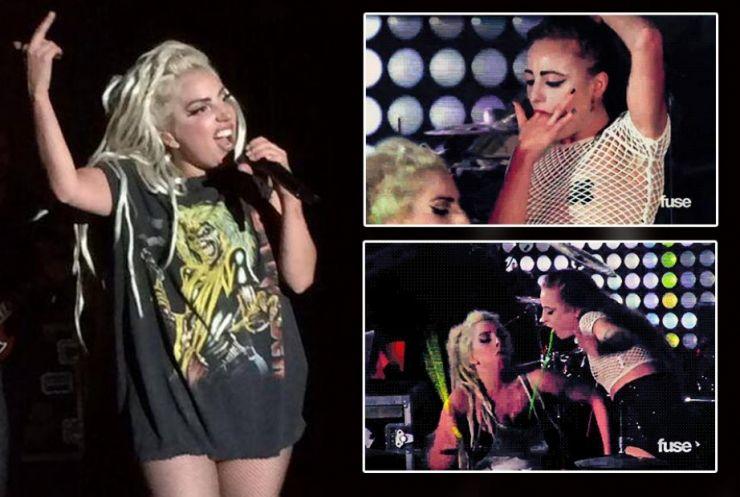 Lady Gaga recebe vômito durante apresentação