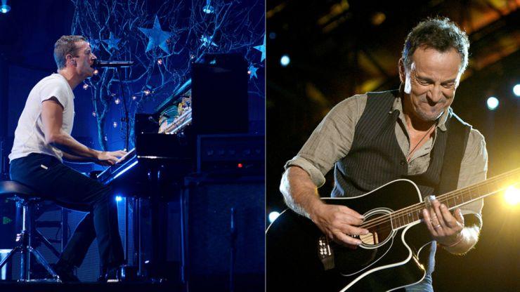 Bruce Springsteen e Chris Martin tocam com U2 em evento