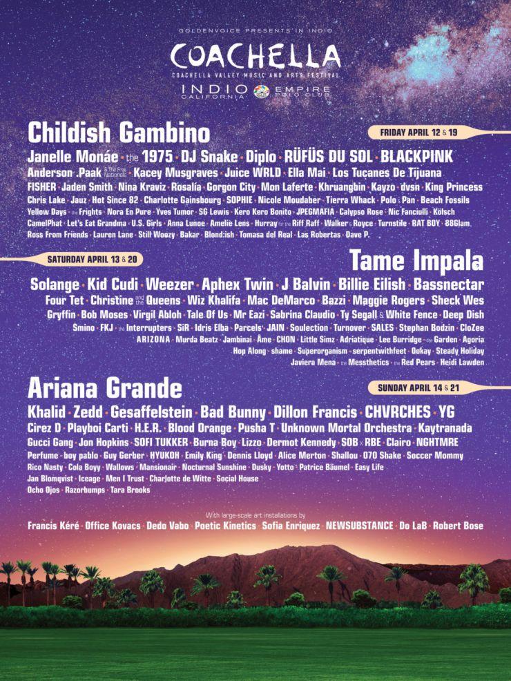 Coachella anuncia suas atrações para o ano de 2019