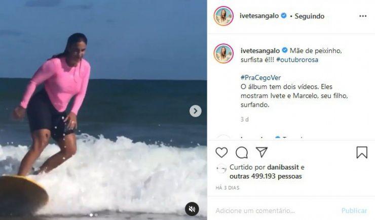 Ivete Sangalo salva menino de afogamento na Bahia