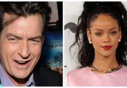 Rihanna briga com ator Charlie Sheen pelo Twitter