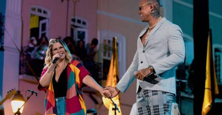 Marília Mendonça anuncia parceria com Leo Santana