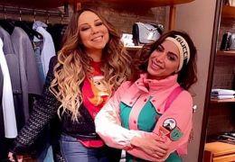 Anitta encontra Mariah Carey e se emociona