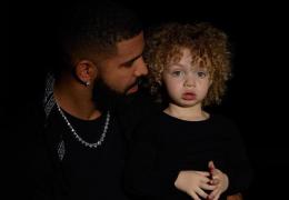 Drake posta foto ao lado do filho pela primeira vez