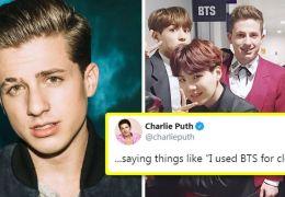 Charlie Puth chama a atenção de fãs do BTS nas redes sociais